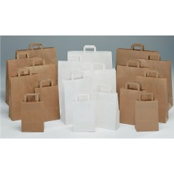 Bolsas de papel 27+12x37 kraft havana, celulosa y verjurado