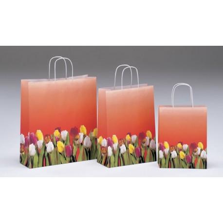 Bolsas de papel 27+12x37 Tulipani