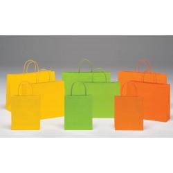 Bolsas de papel 22+10x27+6 colores vivos J FOLD