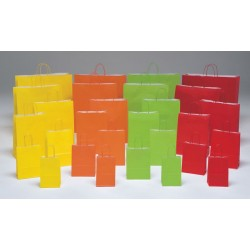Bolsas de papel 22+10x29 colores vivos