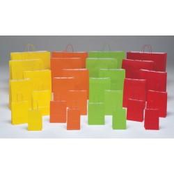Bolsas de papel 27+12x37 colores vivos