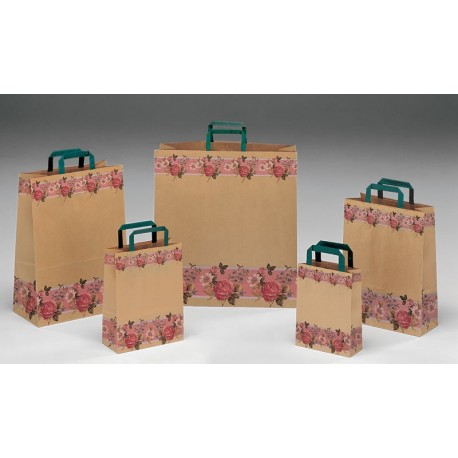 Bolsas de papel 32+17x45 Fascia Fiorita
