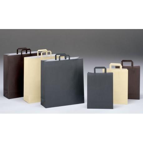 Bolsas de papel 32+17x45 coloreadas celulosa