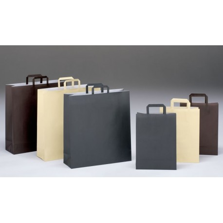 Bolsas de papel 27+12x37 coloreadas celulosa
