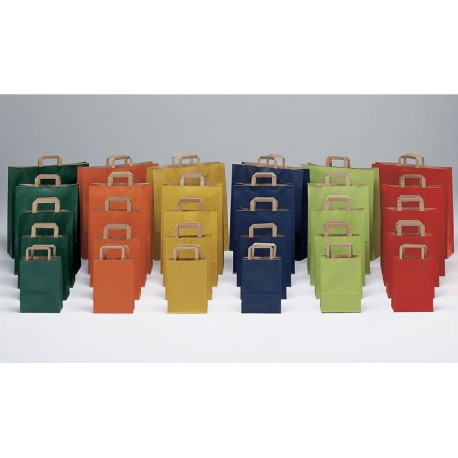Bolsas de papel 22+10x29 de colores