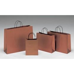 Bolsas de papel 36+12x31+6 bronze