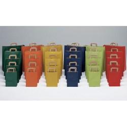 Bolsas de papel 27+12x37 de colores