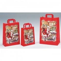 Bolsas de papel 32+17x45 Santa Claus
