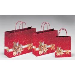 Bolsas de papel 36+12x31+6 estrella dorada